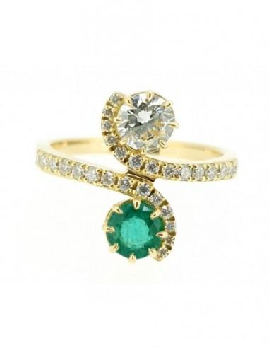 Bague emeraude diamant