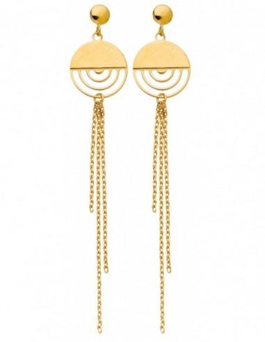 Boucles d'oreilles pendantes or jaune